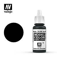 Черный. Краска акриловая 17мл. VALLEJO MODEL COLOR 70950