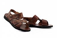 Чоловічі сандалі шкіряні літні коричневі Bonis Casual 110 br р 40 41 42 44, фото 1