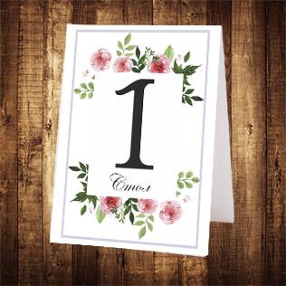 Свадебный номер стола двусторонний (арт. NS-031)