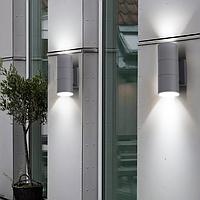 Фасадный светильник, 2*E27 IP65 серый LM995 без лампы, фото 1