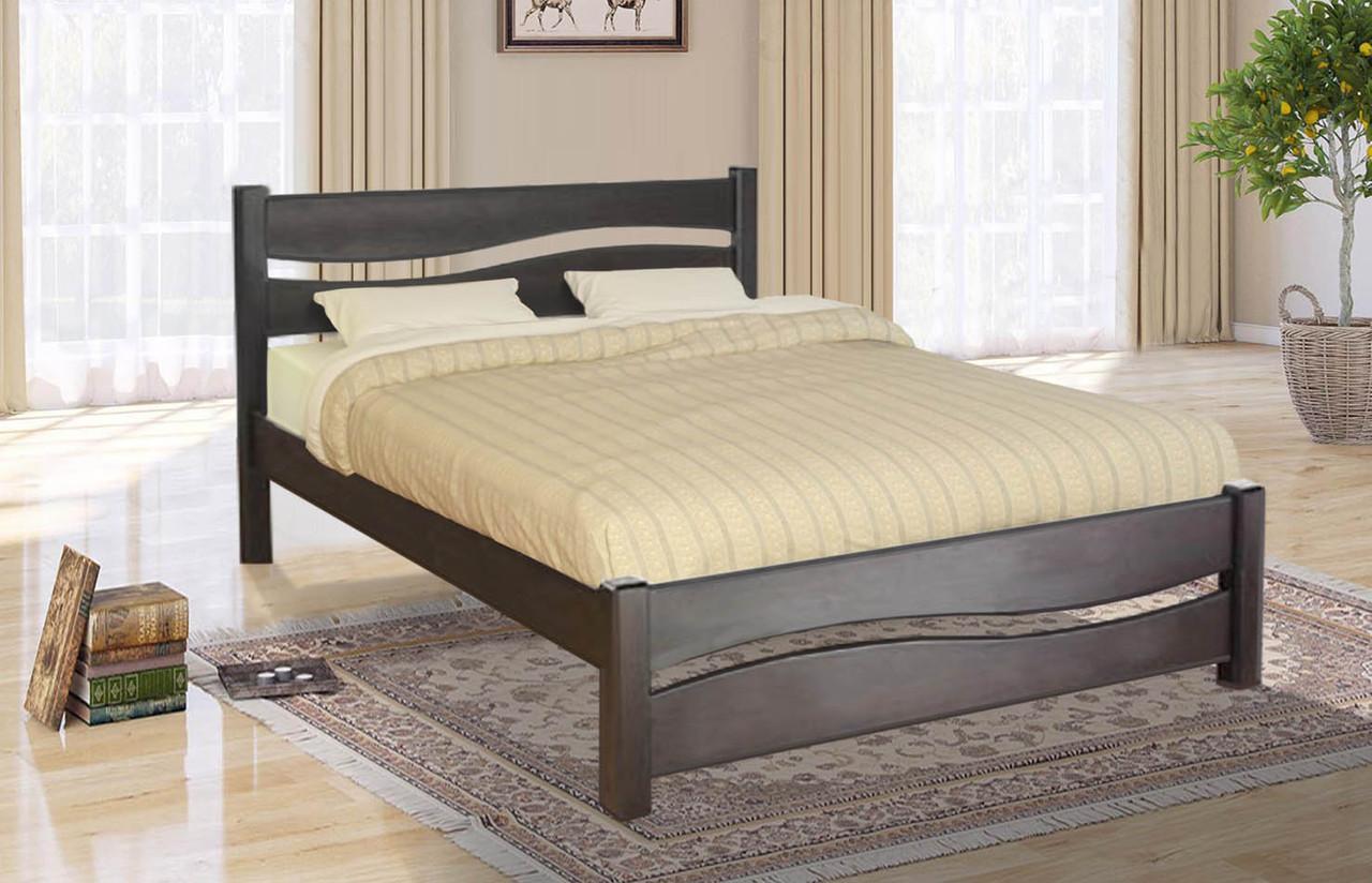 Кровать деревянная двуспальная Волна 1,8м сосна.
