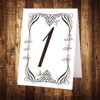 Свадебный номер стола двусторонний (арт. NS-037)