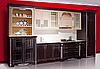 «кухня «Класическая», дуб, цвет №1015+8022 с серебряной патиной»