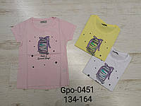 Футболка для девочек оптом, Glo-story, 134-164 см, aрт. GPO-0451