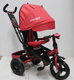 Триколісний велосипед-коляска Azimut Crosser T-400 TRINITY AIR червоний