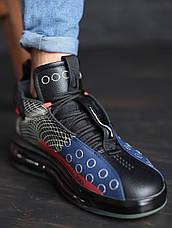 Кроссовки мужские Nike Air Max 720 черные - красные (Top replic), фото 2