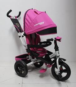 Триколісний велосипед-коляска Azimut Crosser T-400 TRINITY AIR рожевий