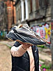 Кроссовки мужские Adidas Yeezy Boots 700 черные - серые (Top replic), фото 2