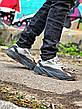 Кроссовки мужские Adidas Yeezy Boots 700 черные - серые (Top replic), фото 3