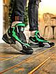 Кроссовки мужские Nike Air Max Speed Turf University серые - зеленые (Top replic), фото 6