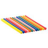 Комплект цветных клеевых стержней 11.2мм*200мм, 12шт INTERTOOL RT-1028, фото 5