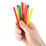 Комплект кольорових клейових стрижнів 7.4 мм*100мм, 12шт INTERTOOL RT-1031, фото 2