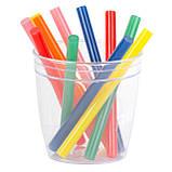 Комплект кольорових клейових стрижнів 7.4 мм*100мм, 12шт INTERTOOL RT-1031, фото 3