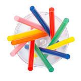 Комплект кольорових клейових стрижнів 7.4 мм*100мм, 12шт INTERTOOL RT-1031, фото 4