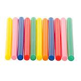 Комплект кольорових клейових стрижнів 7.4 мм*100мм, 12шт INTERTOOL RT-1031, фото 7