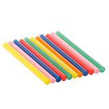 Комплект кольорових клейових стрижнів 7.4 мм*100мм, 12шт INTERTOOL RT-1031, фото 8