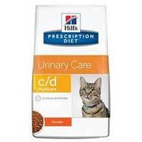 Hills PD Feline C/D Multicare для кошек при мочекаменной болезни с курицей 5 кг