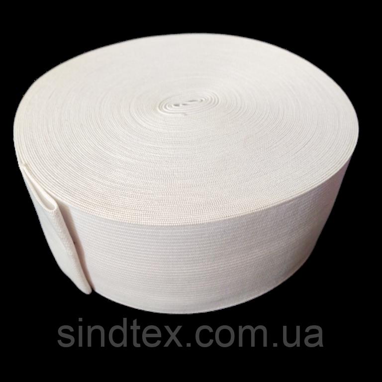 Широкая бельевая резинка для одежды Sindtex белая 7 см х 22,5 м (СИНДТЕКС-0060)