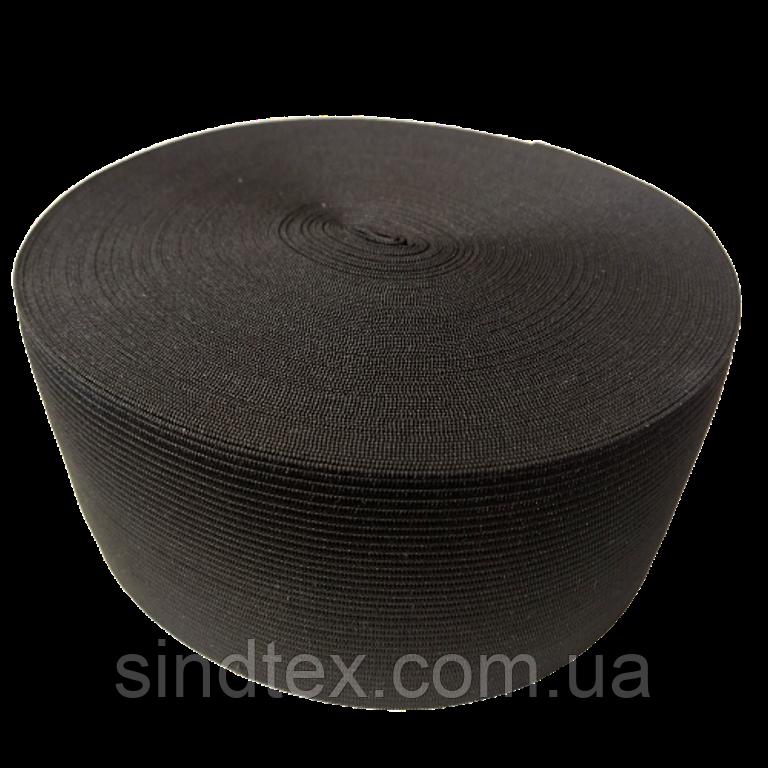 Широкая бельевая резинка для одежды Sindtex черная 7 см х 22,5 м (СИНДТЕКС-0073)