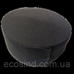 Широкая бельевая резинка для одежды черная 6 см х 22,5 (СИНДТЕКС-0072)