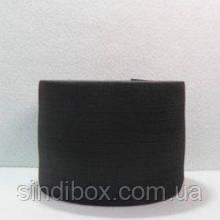 Широкая бельевая резинка для одежды Sindtex черная 8 см х 22,5 м (СИНДТЕКС-0074)