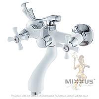 Смеситель для ванны с душем MIXXUS OMEGA 142 WHITE