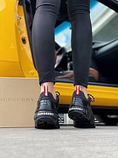 Кроссовки женские Burberry London Arthur Sneakers черные (Top replic), фото 3