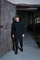 Мужской костюм черный демисезонный Softshell Intruder. Куртка мужская черная, штаны утепленные. Бафф в подарок