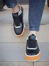 Кроссовки женские Puma Cali Sport Mix черные (Top replic), фото 3