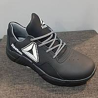 Кожанные женские чёрные кроссовки Reebok 37р.