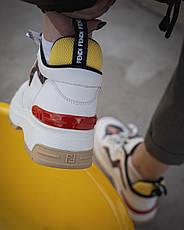 Кроссовки женские Fendi белые (Top replic), фото 2