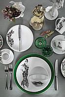 Столовый сервиз Kutahya Miledi зеленый на 6 персон 24 предмета