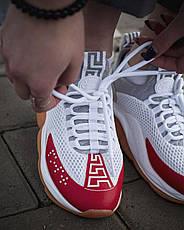 Кроссовки женские Versace Cross Chainer белые-красные (Top replic), фото 2