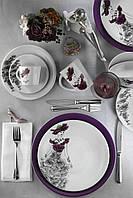 Столовый сервиз Kutahya Miledi фиолетовый на 6 персон 24 предмета