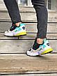 Кроссовки женские Adidas Falcon (черные-серые-бирюзовые) (Top replic), фото 3