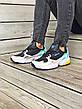 Кроссовки женские Adidas Falcon (черные-серые-бирюзовые) (Top replic), фото 4