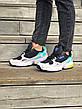 Кроссовки женские Adidas Falcon (черные-серые-бирюзовые) (Top replic), фото 5
