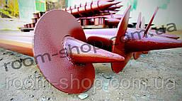 Винтовые сваи (гвинтові палі) диаметром 57 мм., длиною 2 метра, фото 2
