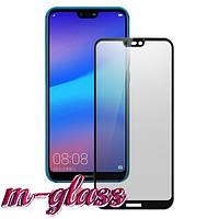 Защитное матовое стекло HUAWEI P20 Lite 2019 Black 9D Matte Glass