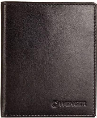 Мужское кожаное портмоне Wenger W2-04BK черный