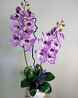 Орхидея латекс  на 2 веточки сирень
