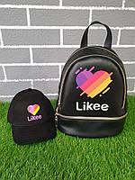 Набор кепка детская и рюкзак лайк, Likee (цвет чёрный)