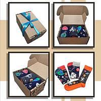 Мужские носки с принтом Космос в подарочной упаковке