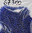 Бісер Preciosa 10/0 колір 67300 синій 10г, фото 3
