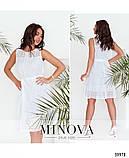 Лёгкое повседневное платье батал с поясом, Minova Размеры: 48-50,52-54, фото 2
