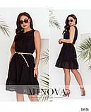 Лёгкое повседневное платье батал с поясом, Minova Размеры: 48-50,52-54, фото 3