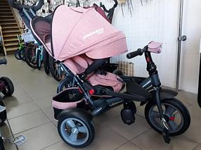 Триколісний велосипед-коляска Crosser T-400 NEO ECO AIR персиковий