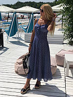 Платье женское в горошек