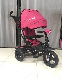 Триколісний велосипед-коляска Crosser T-400 NEO ECO AIR рожевий
