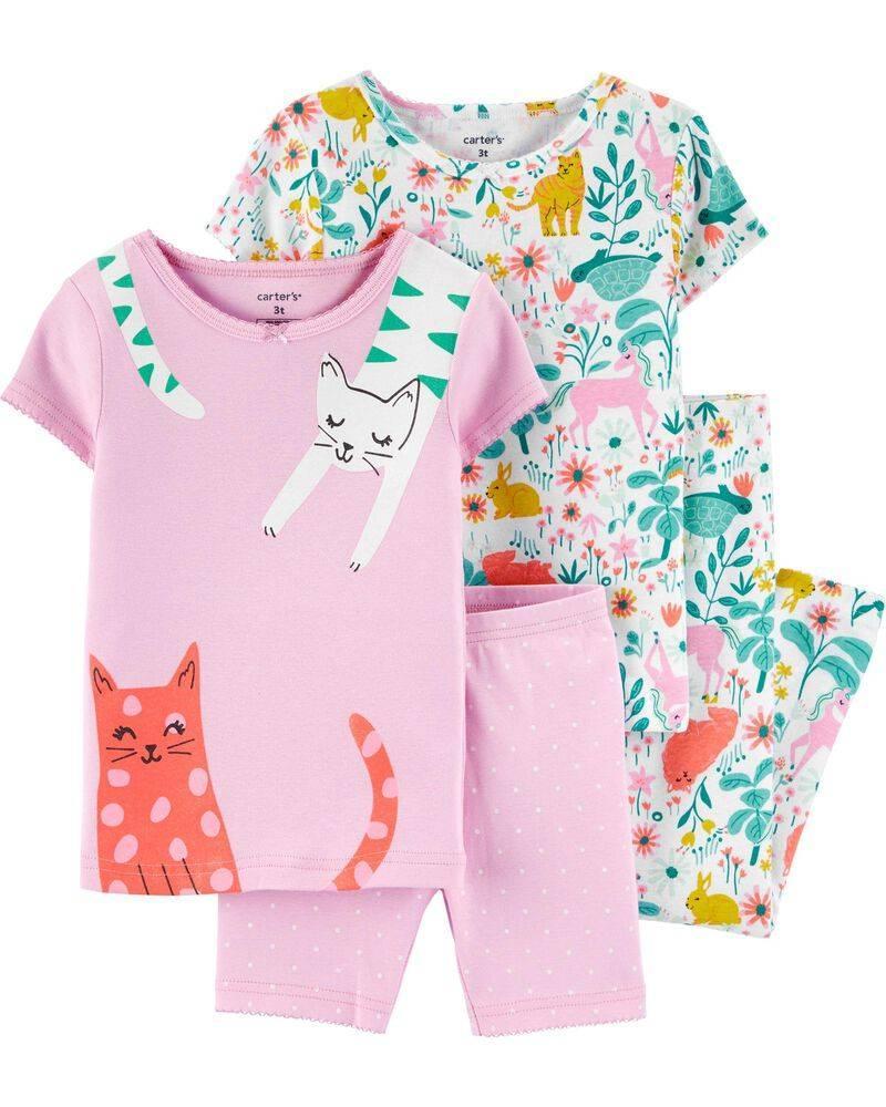 Комплект бавовняних піжам Котики з 4-х частин